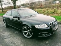 2010 AUDI A6 2.0 TDI E S LINE ,PHANTOM BLACK ***FINANCE FROM £48 PER WEEK***