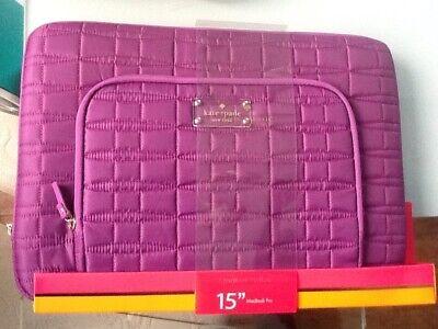 Kate Spade Purple 15 Inch Laptop MacBook Pro Case Brand New