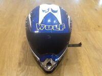 Wolf sport kids Full Face Helmet xs