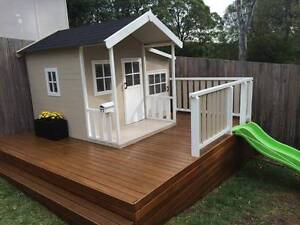 Tuff Cubbies Manor Hardwood Timber Kids Cubby House Toy Playhouse Kingswood Penrith Area Preview