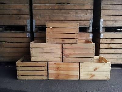 4er Paket Obstkisten in Natur  2.Wahl-Weinkisten-Apfelkisten-Holzkisten
