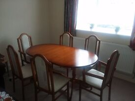 Folding table + 6 chairs