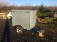 Covered car trailer ideal for carboots, livestock or dump runs