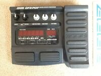 Zoom gfx 707 guitar effects pedal in original box with manual and power cord