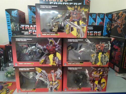 TRANSFORMERS G1 Grimlock Slag Swoop Snarl Sludge Reissue Dinobots Action figure