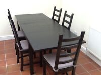 Great IKEA STORNÄS Dining Table and 6 KAUSTBY Chairs