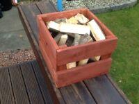 Hand made LOG BOX. Filled