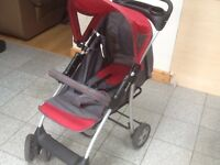 HAUCK pushchair- used and in full working order- no damage-has hood,footrest,straps,cup holder