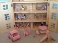 Wooden dolls house very good condition