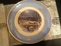 Avon limited edition Christmas Plate and Hornsea Pottery Christmas Plate