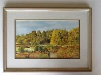 Watercolour original NEW FOREST, excellent condition, signed.