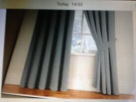 Grey Thermal Curtains 168cm x137cms with Tie Back £15 almost new ,,,cost £35 fromDunelms ,,,,,