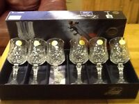 Crystal Wine Glasses x 6 NEW boxed