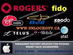 UNLOCK ANY 4/4S/5/5C/5S/6/6+/6S/6S+/SE IPHONE *VIDEOTRON* *$99* *BELL/VIRGIN* *$79* *TELUS/KOODO* *$75* & MORE