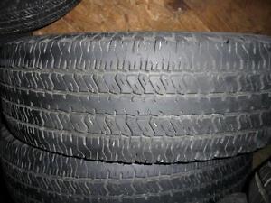4 pneus d'été, 235/75/17, Hankook, Dynapro AT, 35% d'usure, mesure 9/32.