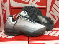 Grey and white air max 95s