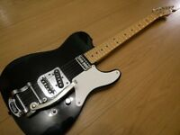 Fender Squier Telecaster Cabronita with Bigsby - Black - Great Condition
