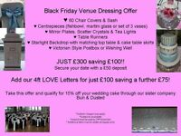 Black Friday Venue Dressing Offer