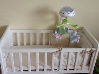 Mother Care white cot bed for baby