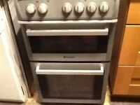 Free Fully functioning Hotpoint electric cooker with fan oven in silver