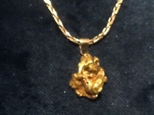1 ounce Gold nugget pendant necklace Welshpool Canning Area Preview