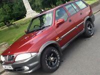 2002 DAEWOO MUSSO 2.9 TDI ESTATE IN A1 CONDITION WITY LOW MILEAGE
