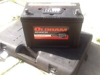 Large car battery,Oldham advance, nearly new