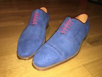 St Ozzy Blue Suede Shoes, never worn. Size 9 (Eur 43)