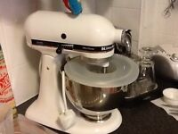 Kitchen aid stand mixer with tools, unused , immaculate.