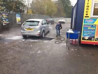 Main Road Location Hand Car Wash Valet Business For Sale - Large Land - Huge Potential - Cheap Rent