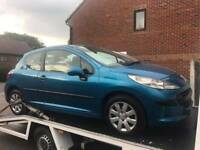 breaking nice blue peugeot 207 all of the parts are available