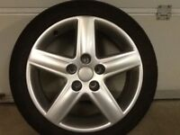17INCH 5/112 GENUINE AUDI ALLOY WHEELS WITH TYRES FIT VW SEAT ETC