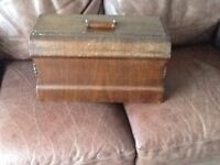 Singer sewing machine coffin cover