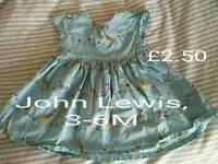 Baby girls' clothes, John Lewis, Gap, M&S etc
