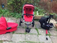 Quinny buzz rebel red full travel system