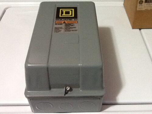 SQUARE D 8502 SCG1V02S SER. A, SIZE 1 CONTACTOR W/ ENCLOSURE