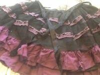 Skirt gothic purple