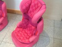 Full highback 2piece group 2 3booster car seat for 15kg upto 36kg(4yrs upto 12yrs)+padded inserts