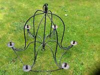Candle chandelier metal