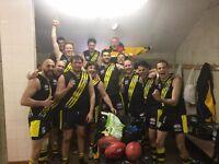 Aussie Rules Footy team in toon#1