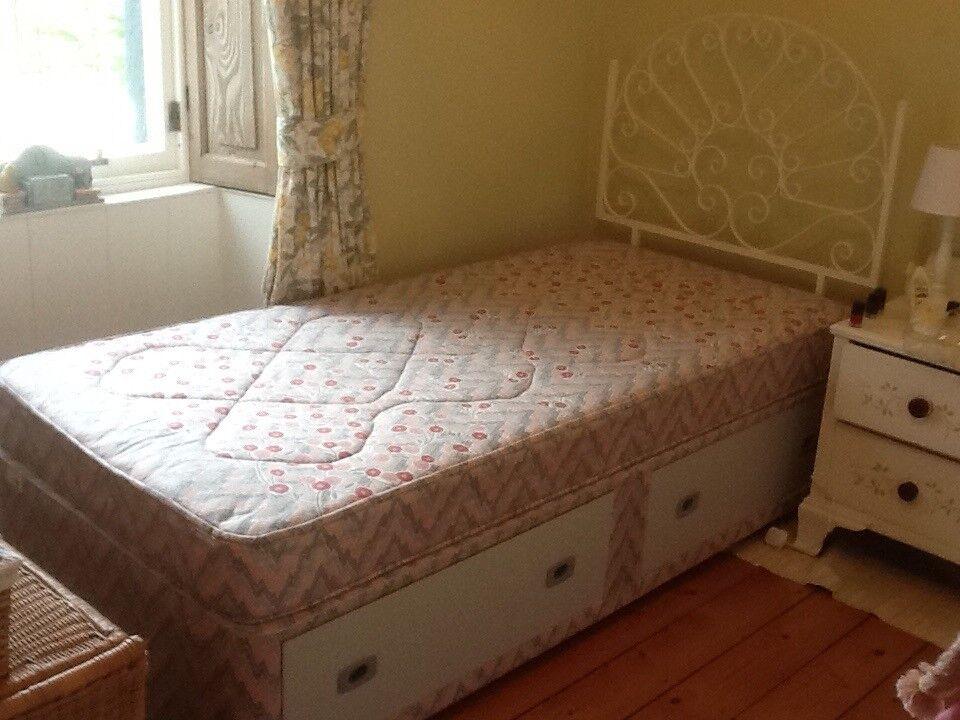 Single Divan Bed with. Storage
