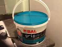 5 L tub, surplus BAL Tile adhesive for sale, about 90% untouched