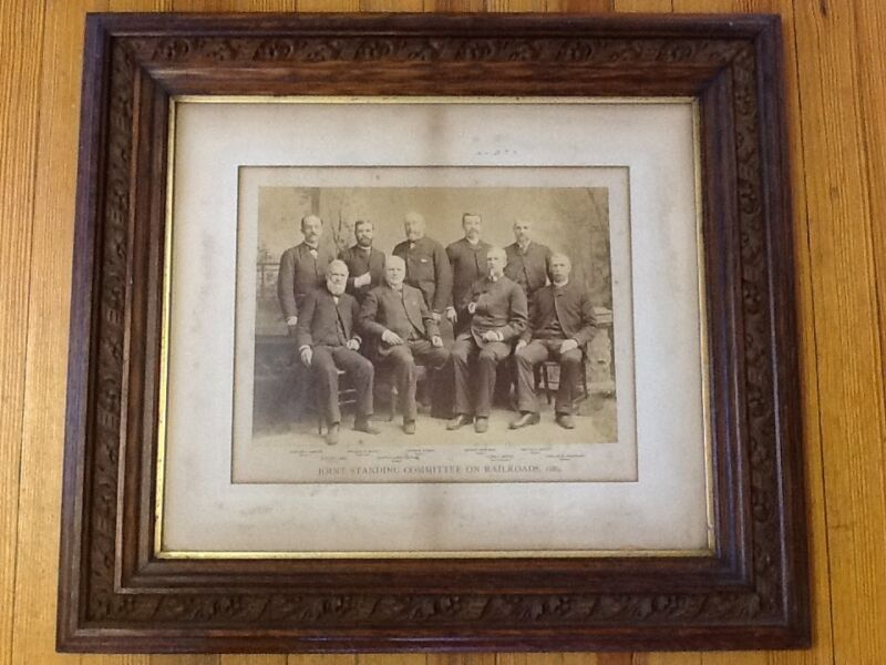 Joint Standing Committee on Railroads (CT), Photogravure/Walnut Frame - 1889