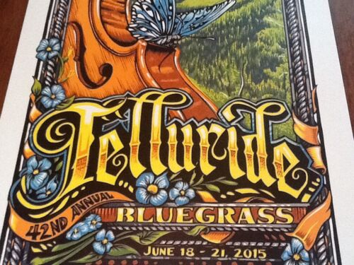 AJ Masthay Telluride Bluegrass Poster 2015 Mint signed 50 copies Panic Phish