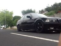 BMW E36 318IS COUPE 120k FSH COSMO BLACK M3 WHEELS BLACK LEATHER