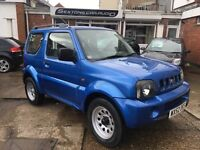 Suzuki Jimny JLX 4x4 1.3cc electric blue just been serviced fully undersealed and brand new mot
