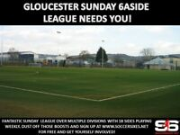 Gloucester Sunday 6aside League - Teams Wanted