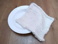 New Knitted Thick Wool Roving Basket Liner, Posing Blanket, Photography Prop. Newborn Baby Prop.