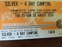 Creamfields, 4 day silver camping ticket for sale. Epic 4 days of world class DJ's :D