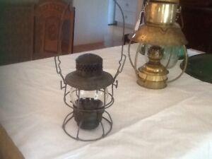 C N R railroad lantern